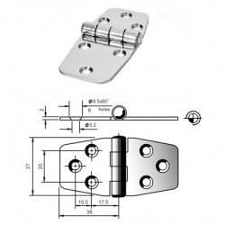 BISAGRA INOX. 76X37mm (S441490)